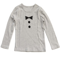 Poette Unisex Monsieur Top - Light Grey - only sz 8 left - FINAL SALE