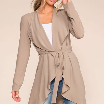 To Bond With Love Wrap Duster - Khaki
