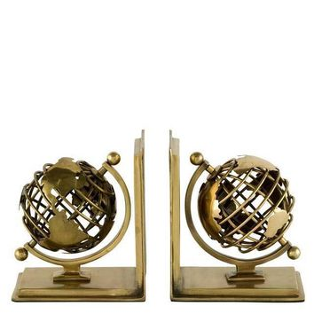 Brass Bookends Set | Eichholtz Globe