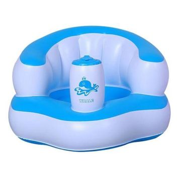 Inflatable Bath Stool Sofa Chair Children Baby   blue
