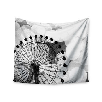 "Sylvia Coomes ""Black And White Ferris Wheel"" Black White Wall Tapestry"