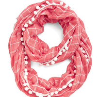 Pom It Up Circle Scarf in Coral by ModCloth