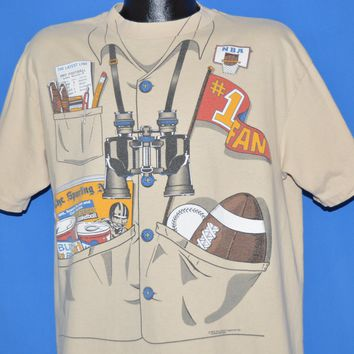 80s Sports Fan #1 Costume t-shirt Large