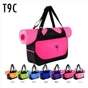 Yoga bag mats clothes Camping Fitness backpack waterproof sports bag Custom printed logo not contain yoga mats
