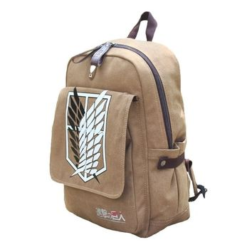 Attack On Titan Shingeki No Kyojin Anime Cosplay Backpack Schoolbag