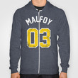Draco Malfoy - Quidditch Number 03 Slytherin (Harry Potter) Hoody by SOULTHROW