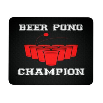 """Beer Pong Champion Mouse Pad 9.25"""" x 7.75"""" 1/4 Thickness Durable Neoprene"""