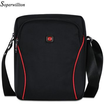 Soperwillton 2017 Men Bag Messenger Bag Big Bags Solid IPAD Bag Autumn New Casual Business Large Capacity Oxford Male XL1061