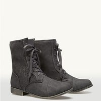 Perforated Combat Boots | Fashion Boots | rue21
