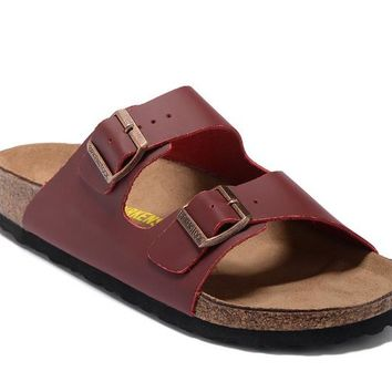 Men's and Women's BIRKENSTOCK sandals Arizona Soft Footbed Leather 632632288-013