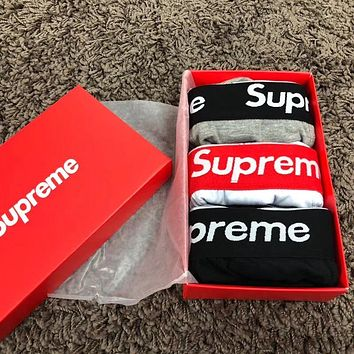 Supreme:Men's boxer underwear pants male gift box