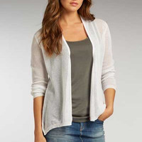 Organic Cotton Mesh Cardigan