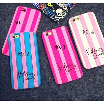 Victoria's Secret Fashion Striped iPhone protects iPhone 6 6s 6plus 6s plus 7 7plus F