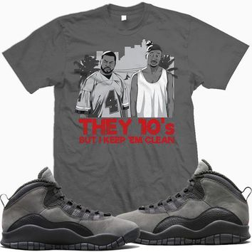 Jordan Retro 10 Shadow Sneaker Tees Shirt - THEY 10s