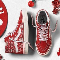 Vans Christma Canvas Flat High-Top Sneakers Sport Shoes