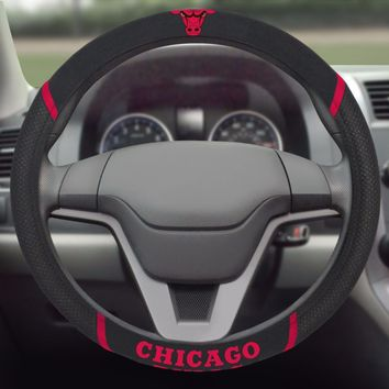 Chicago Bulls Embroidered Steering Wheel Cover