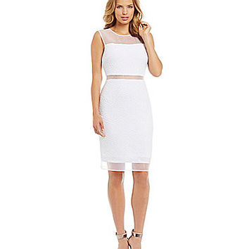 Calvin Klein Illusion Waist Fit-and-Flare Dress | Dillards.com