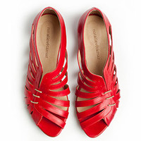 SALE - Gilly red flat sandals