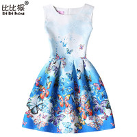 lady styles Butterfly Print Girl Princess Dress