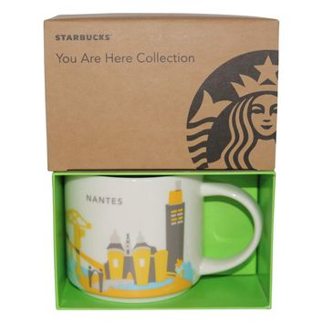 Starbucks You Are Here Collection Nantes Ceramic Coffee Mug New with Box