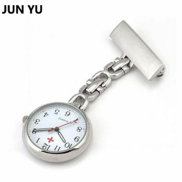 Doctor Pocket Watches  Nurses Watch Fob Hanging Medical Pocket Watch Relogio Clock Stainless Steel