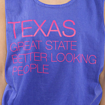 charlie southern: great state tank - Texas [neon blue]