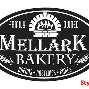Peeta Mellark Bakery Logo Decal Sticker