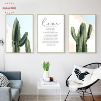 900D Posters And Prints Wall Art Canvas Painting Wall Pictures For Living Room Nordic Poster Cactus Decoration Pictures NOR076