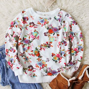 Frosty Rose Sweatshirt