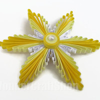 yellow christmas snowflake, christmas ornament, holiday decoration, clear ball, christmas ball, paper ornament, xmas decor, christmas tree