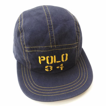 Polo ralph lauren Leather strapback Hat Cap