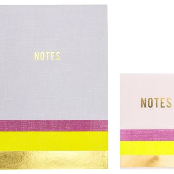 Lavender and Neon Yellow Journal and Pocket Notepad Gift Set