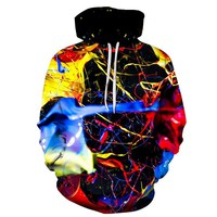 Reverie Planet Color Splash Unisex Hoodie