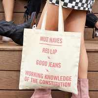 Teen Vogue + UO Constitution Tote Bag | Urban Outfitters