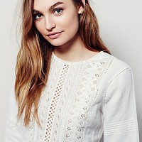 Free People Little Wings Lace Tunic