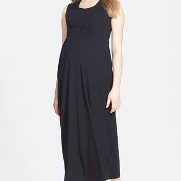 Women's Japanese Weekend Maxi Maternity/Nursing Dress,
