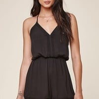 Honey Punch Lace Trim Long Sleeve Romper at PacSun.com