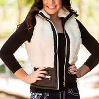 Ice Queen Faux Fur Jacket White