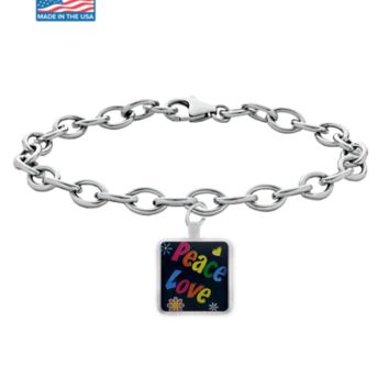 "Smoking Hot Jewelry. ""Peace and Love"" Hippie Bracelet #SheShopper"