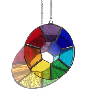 Chakra Suncatcher, Stained Glass Chakra Suncatcher, Stained Glass Chakra
