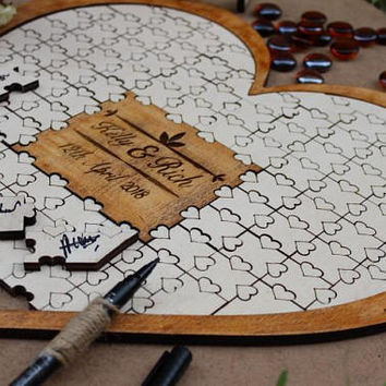 Heart Guest book puzzle-Guest book puzzle-Guest book-Wedding guest book-Puzzle guest book-Puzzle-Wedding puzzle-Personalized puzzle