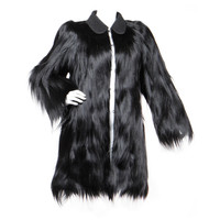 Pristine Vintage 1940's Black Bencha Gold Coast Money Fur Coat