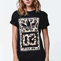 Cheetah 03 Crew T-Shirt - Womens Tee - Black