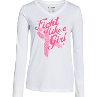 Under Armour Girls' Power In Pink Fight Like A Girl Graphic Long Sleeve Shirt - Dick's Sporting Goods
