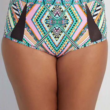 80s Sunbeam Me Up! Swimsuit Bottom - 1X-3X