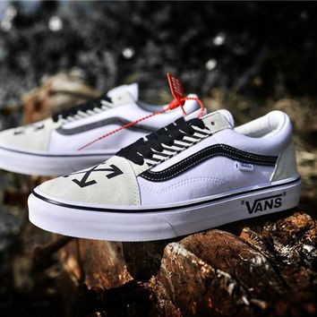 "2018 OFF-WHITE x Vans Old Skool ""Willy"" AL06 36--44"