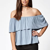LA Hearts Ruffled Off-The-Shoulder Top at PacSun.com
