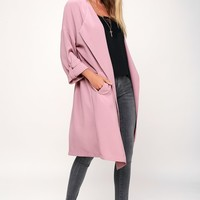 Ayres Mauve Trench Coat