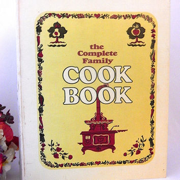 The Complete Family Cookbook Vintage 1969 Three Ring Recipe Book Mid-Century American Food Home Cooking Baking Guide