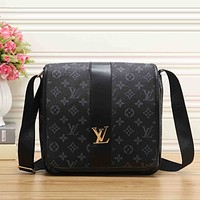 Louis Vuitton Women Men Fashion Leather Satchel Shoulder Bag Handbag Crossbody